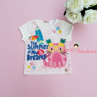 Conjunto Mon Sucré Blusa e Short Saia Cat Lovers