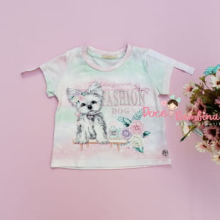 Conjunto Petit Cherie Blusa e Short Fashion Dog