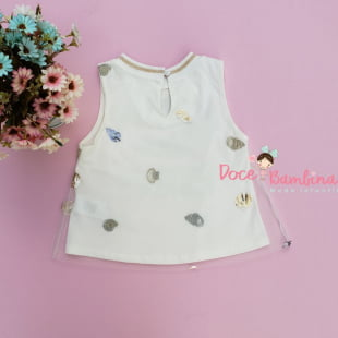 Conjunto Petit Cherie Blusa e Short Fundo do Mar