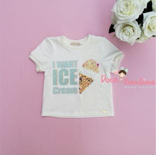 Conjunto Petit Cherie Blusa e Short Ice Cream