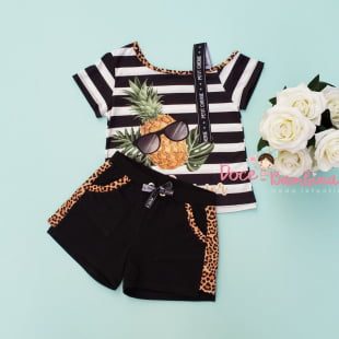 Conjunto Petit Cherie Blusa e Short Summer Fashion
