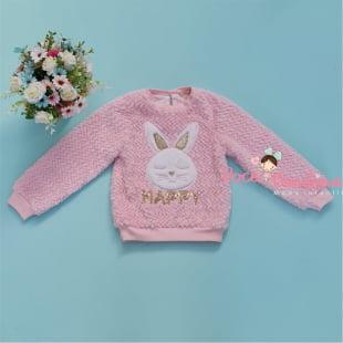 Conjunto Petit Cherie de Inverno Longo Cute Rabbit