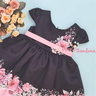 Vestido Petit Cherie Bebe Fashion Flowers