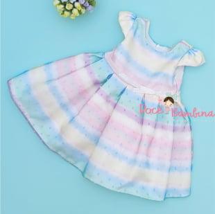 Vestido Petit Cherie Bebê Arco-íris