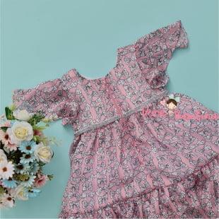 Vestido Petit Cherie Bebe Pink Ties