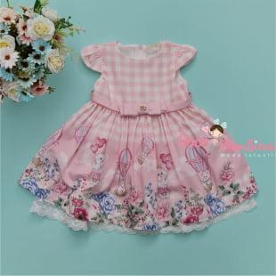 Vestido Petit Cherie Bebe Jardim Encantado da Ursinha