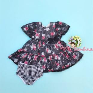 Vestido Petit Cherie bebe Listrado