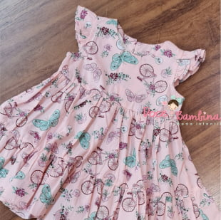 Vestido Petit Cherie Bebe Natural de Tricoline Jardim