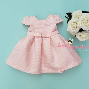 Vestido Petit Cherie Bebe Rosa Charming