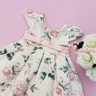 Vestido Petit Cherie Bebe Rosas Jardim