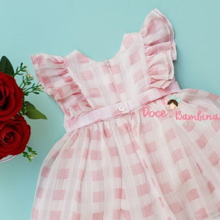 Vestido Petit Cherie Bebe Verão Classic