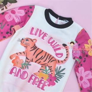 Vestido Mon Sucré Live Wild Panther Pink