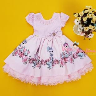 Vestido Infantil Boneca Lol
