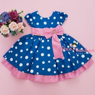 Vestido Infantil Galinha Pintadinha Rosa