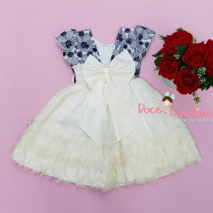 Vestido Infantil Social Bordado