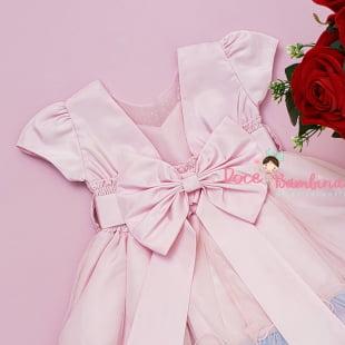 Vestido Infantil Unicornio Rosa
