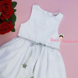 Vestido Mon Sucré Branco Glitter