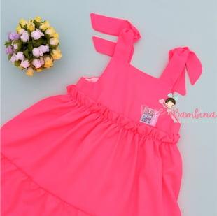 Vestido Mon Sucré Rosa Neon