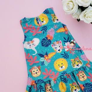 Vestido Mon Sucré Tropical Animal