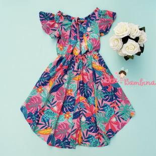 Vestido Mon Sucré Mullet Tropicalia