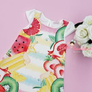 Vestido Mon Sucre Verão Frutas