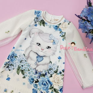 Vestido Petit Cherie Casual Exclusivo Jardim de Inverno