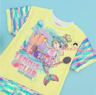 Vestido Petit Cherie Sereia Neon