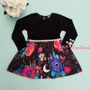 Vestido Mon Sucré Chão de Estrelas
