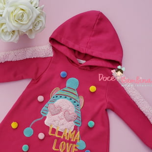 Vestido Mon Sucré de Inverno Lhama Love