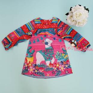 Vestido Mon Sucré Diversão Lhama
