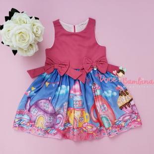 Vestido Mon Sucré Laço Candy Land
