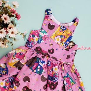 Vestido Mon Sucré Rosa Cookies