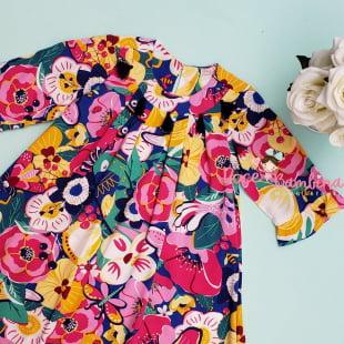Vestido Mon Sucré Viscose Floral Doçura