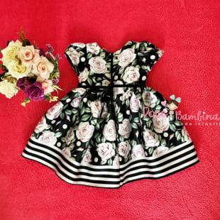 Vestido Petit Cherie Bebe Floral Preto