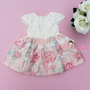 Vestido Petit Cherie Bebe Floral Rosa