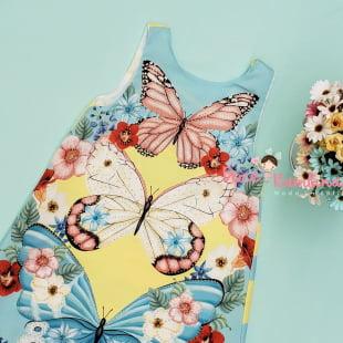 Vestido Petit Cherie Casual Borboletas