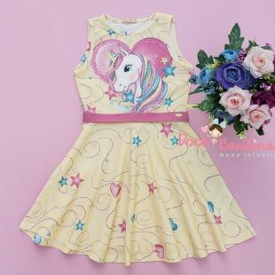 Vestido Petit Cherie Casual Encanto do Unicórnio