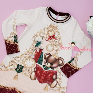 Vestido Petit Cherie Casual Exclusivo Ursinho Realeza