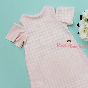 Vestido Petit Cherie Casual Floral Rosas e Passarinhos