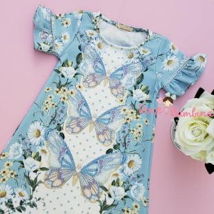 Vestido Petit Cherie Casual Flores do Campo e Borboletas
