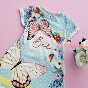 Vestido Petit Cherie Casual Jardim das Borboletas