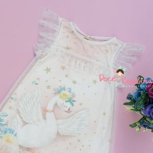 Vestido Petit Cherie Casual Luxo Cisne Encantado