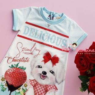 Vestido Petit Cherie Casual Moranguinho Delicious