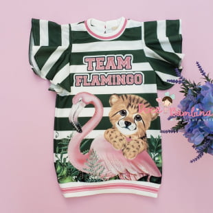 Vestido Petit Cherie Casual Team Flamingo