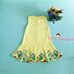 Vestido Petit Cherie Casual Trapézio Arabesco Floral