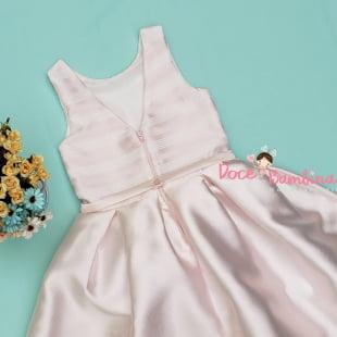 Vestido Petit Cherie de Festa Aurora Laço e Pérolas