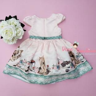 Vestido Petit Cherie de Festa Chá da Tarde dos Cachorrinhos
