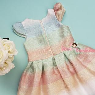 Vestido Petit Cherie de festa exclusivo holográfico
