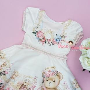 Vestido Petit Cherie de Festa Exclusivo Ursinhos Anjinhos