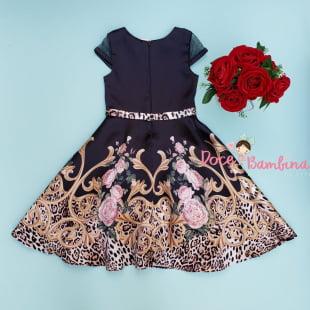 Vestido Petit Cherie de Festa Glamour Animal Print
